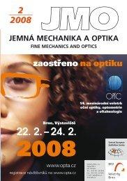 zaostřeno na optiku - Jemná mechanika a optika