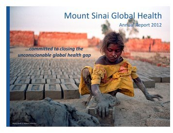 Mount Sinai Global Health's 2012 Annual Report