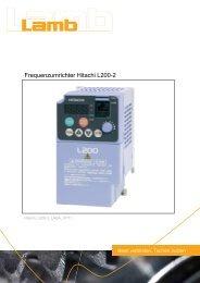 Betriebsanleitung HITACHI - Serie L200-2 07/11 PDF - Max Lamb ...