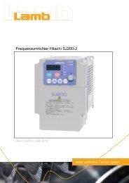 Betriebsanleitung HITACHI - Serie SJ200-2 07/11 PDF - Max Lamb ...