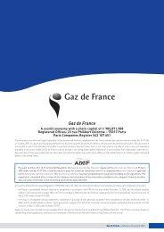 Gaz de France - GDF Suez