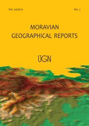 MORAVIAN GEOGRAPHICAL REPORTS - Institute of Geonics ...