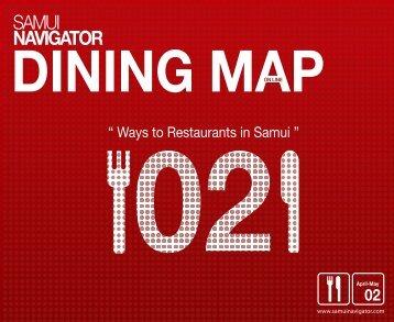 dining map - Samui Navigator Map