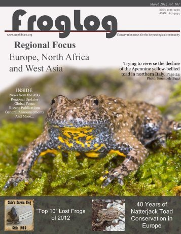 FrogLog 101 PDF here - Amphibian Specialist Group