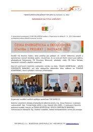 tiskové zprávě - Top Expo CZ