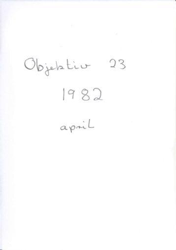 Objektiv nummer 23 1982 - Dansk Fotohistorisk Selskab