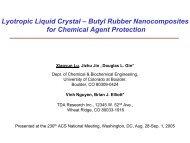 Lyotropic Liquid Crystal – Butyl Rubber Nanocomposites for ...