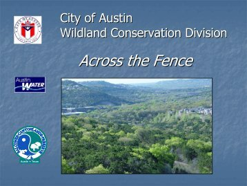 Balcones Preserve Presentation - Long Canyon