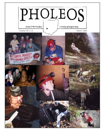 Pholeos Vol. 20 (1 & 2).indd - WUSS