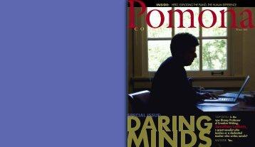 COLLEGEMAGAZINE Winter 2011 - Pomona College Magazine