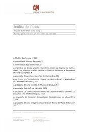 Índice de títulos - Casa de Sarmento - Universidade do Minho