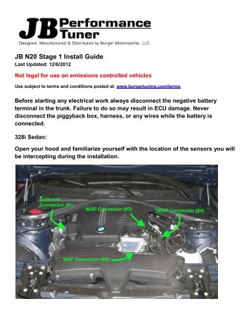 JB N20 Stage 1 Install Guide