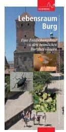Broschüre Lebensraum Burg, 2. Auflage - Stadt Nürnberg