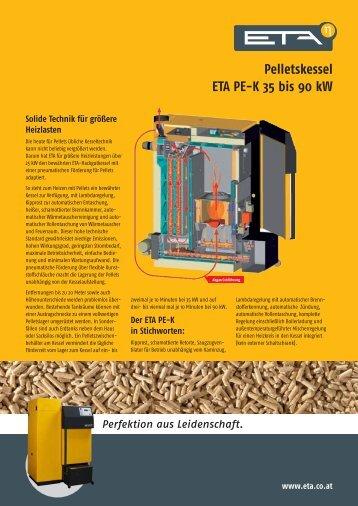 Pelletskessel ETA PE-K 35 bis 90 kW - Sanitech