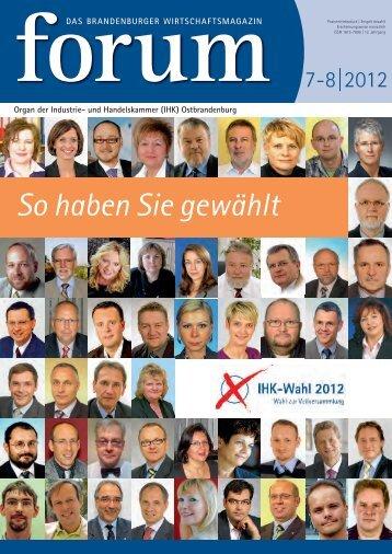 forum 07-08/2012 - Wirtschaftsmagazin Ostbrandenburg