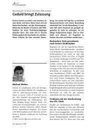 Article in the FHZ Alumni Magazin, 11/99 - FHM-Network