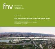Das Förderwesen des Fonds Soziales Wien - bei fnv!