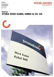 Stora Enso Kabel Brückenkrane, Halbportalkrane PDF - Konecranes