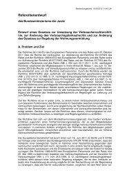 eines Gesetzes zur Umsetzung der Verbraucherrechterichtlinie und