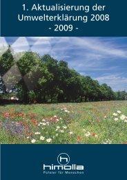 1. Aktualisierung der Umwelterklärung 2008 - 2009 - - EMAS