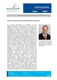 orthopädie aktuell November 2012 - eurocom