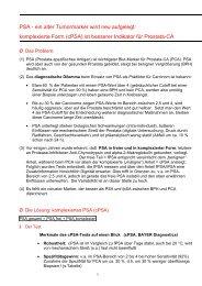 Prostata-CA: komplexiertes = cPSA verbessert die Diagnostik