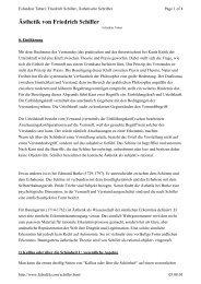 Ästhetik von Friedrich Schiller - Falsafeh
