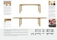 Klare Linien und formschöne Details: Der Holztisch 1120/ 1121 fügt ...