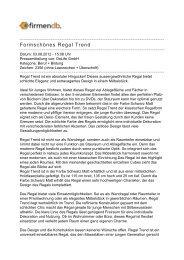 Formschönes Regal Trend - Firmendb