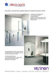 Deco-Norm, das technisch perfekte System für zeitlos formschöne ...