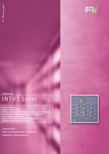 INTUS Leser - PCS Systemtechnik GmbH