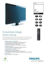 42PFL5603D/12 Philips Flat TV mit Pixel Plus HD