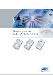 Bewegungsmelder Serie 150 / Serie 150 BUS - ABI ...