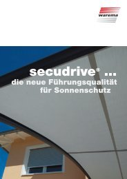 secudrive®-Prospekt - Warema