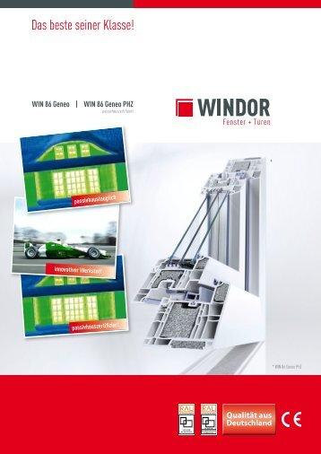 WIN 86 Geneo - WINDOR Fensterwerk GmbH