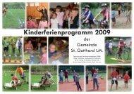 Kinderferienprogramm 2009 (420 kB) - St. Gotthard im Mühlkreis