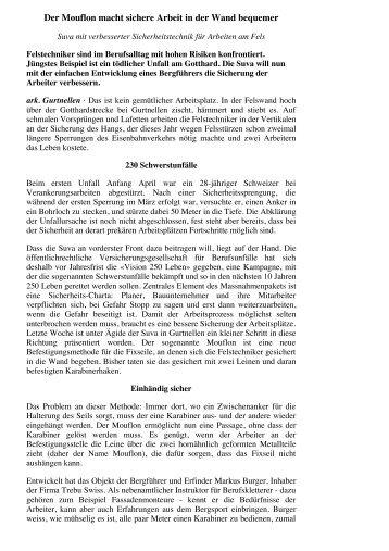 Neue Zuercher Zeitung vom 25.09.2012 - Trebu Swiss Rettungsgerät
