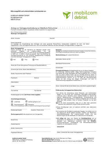 Mobilcom Rechnung : telekom leitfaden mobilcom debitel gmbh ~ Themetempest.com Abrechnung