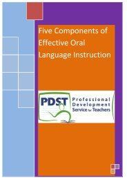 Five Components of Effective Oral Language Instruction - PDST