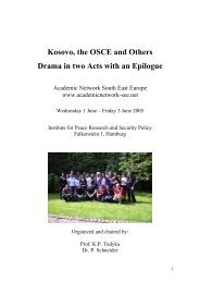 Kosovo, the OSCE and Others - IFSH