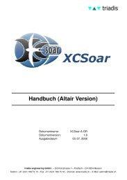 Handbuch (Altair Version) - triadis engineering GmbH