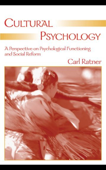 Cultural Psychology-A Perspective on Psychological ... - Index of