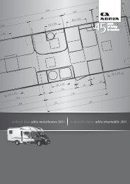techical data adria motorhomes 2011 technische ... - ADRIA Mobil