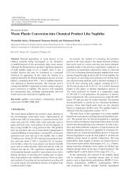 Waste Plastic Conversion into Chemical Product ... - Ashdin Publishing