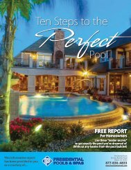 free report - Presidential Pools and Spas