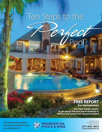 Free Report   Presidential Pools And Spas