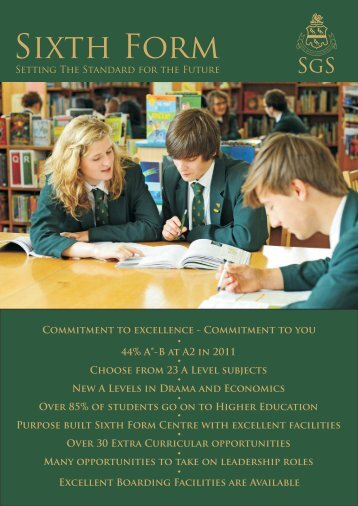 sixth form leaflet - Skegness Grammar School