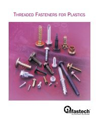 Threaded Fasteners for plastic - Infastech