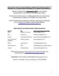 Awards Nomination Form (PDF) - Society for Conservation Biology