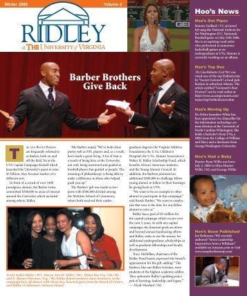 Barber Brothers Give Back - HoosOnline - University of Virginia